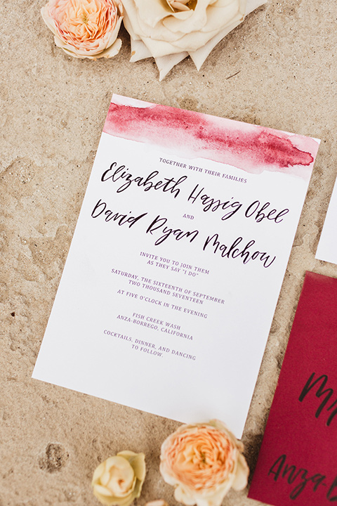 Anza-Borrego-styled-shoot-invitations-white-invitations-with-brigh-pink-accents