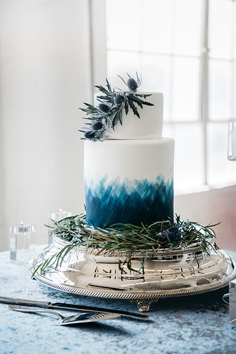FD-Studios-cake-white-cake-with-ombre-blue-decorations