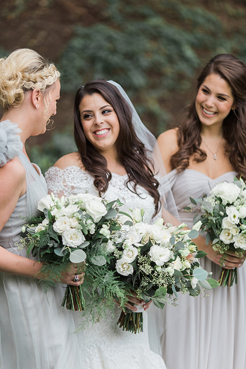 los-willows-wedding-bridesmaids-bride-in-a-tulle-ballgown-with-sleeves-bridesmaids-in-silver-dresses