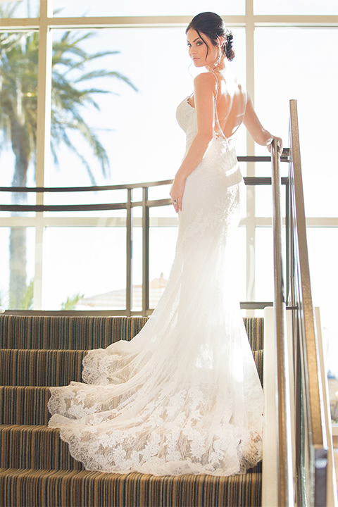 Grand-Pacific-Palisades-bride-in-a-lace-dress-with-straps
