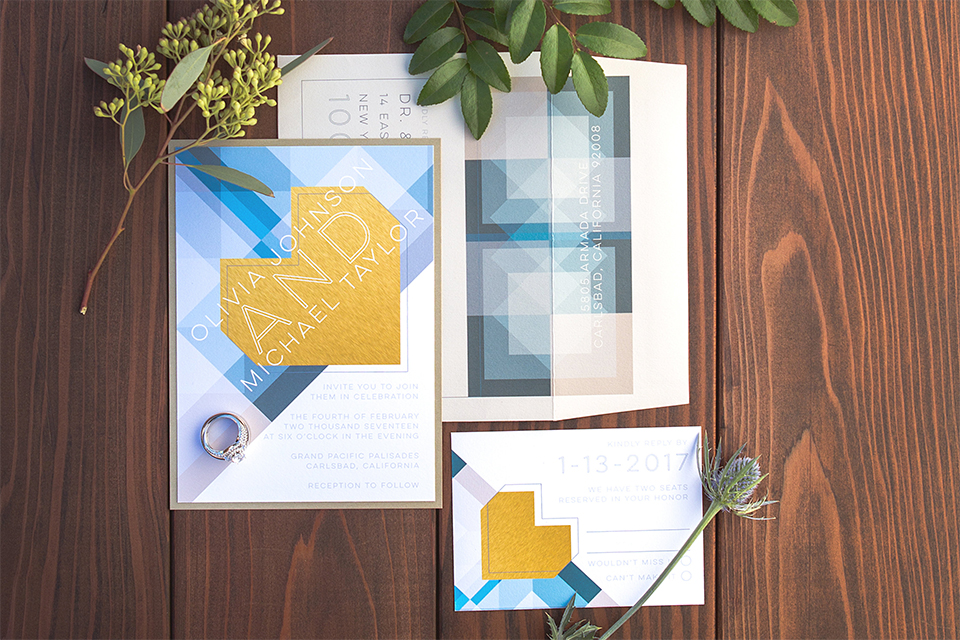 wooden-table-with-geometric-hand-painted-intivations-with-yellow-and-blue-detailing