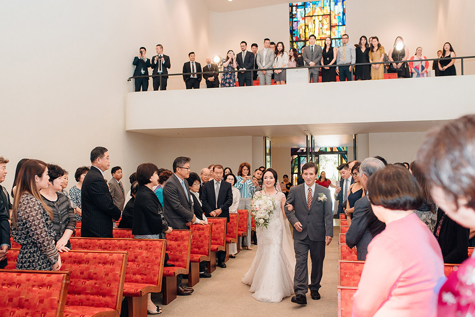 occidental-college-wedding-walking-down-the-aisle