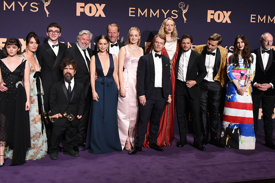 the entire cast of Game of Thrones at the 2019 Emmys