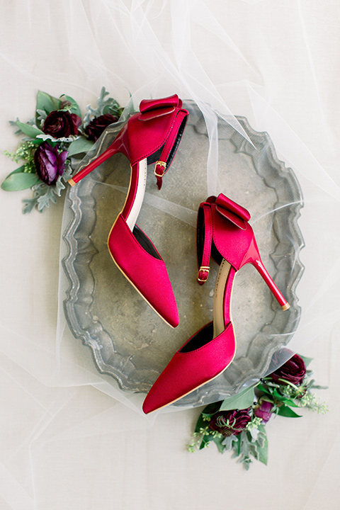 Burgundy-and-Blue-wedding-bridal-shoes-in-burgundy-to-match-the-bridesmaids