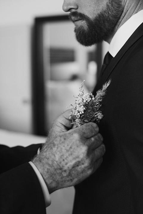 Grand-Firesta-Americana-Coral-Beach-groom-jacket-close-up