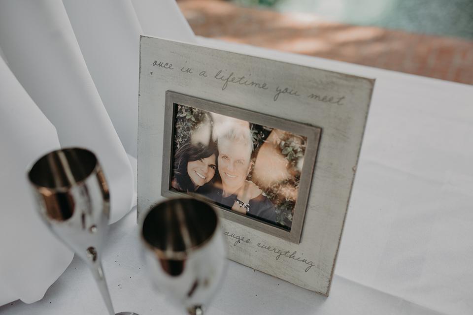 West-Hollywood-Wedding-family-photos-on-table