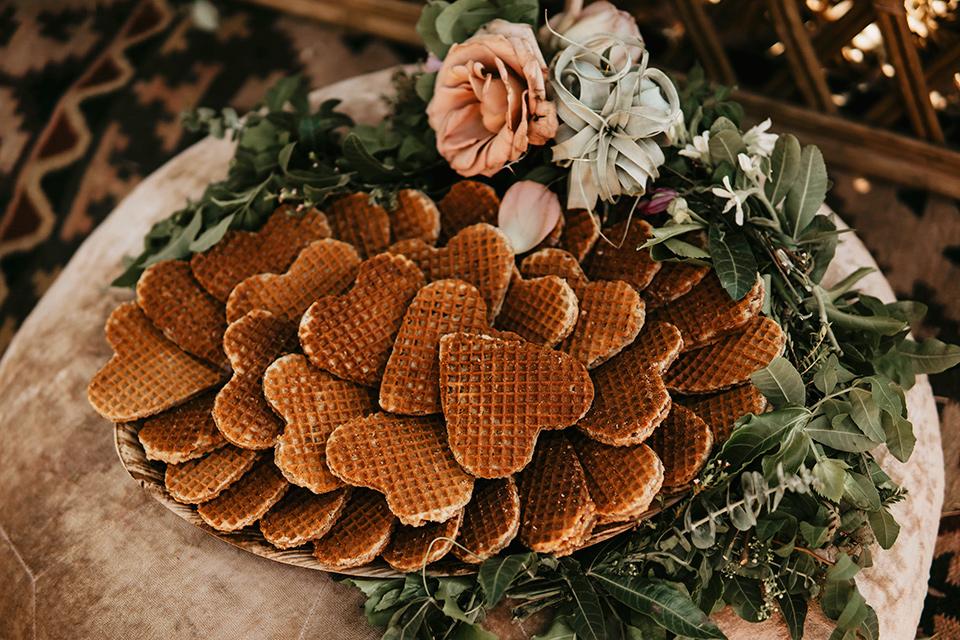 heart shaped waffle cookies