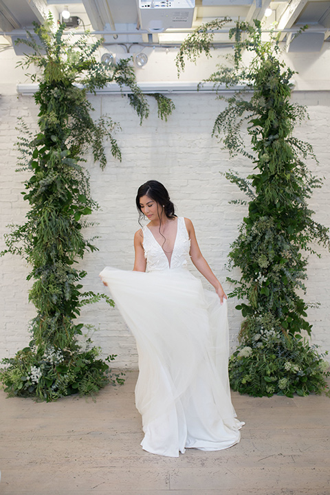 """""""Cooks-Chapel-Shoot-bride-in-a-soft-flowing-gown-with-straps-and-a-deep-v-neckline"""""""