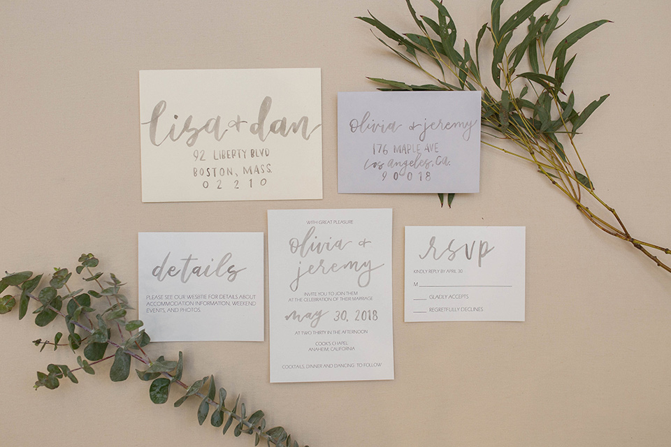 Cooks-Chapel-Shoot-invitations-in-white-paper-with-gold-lettering