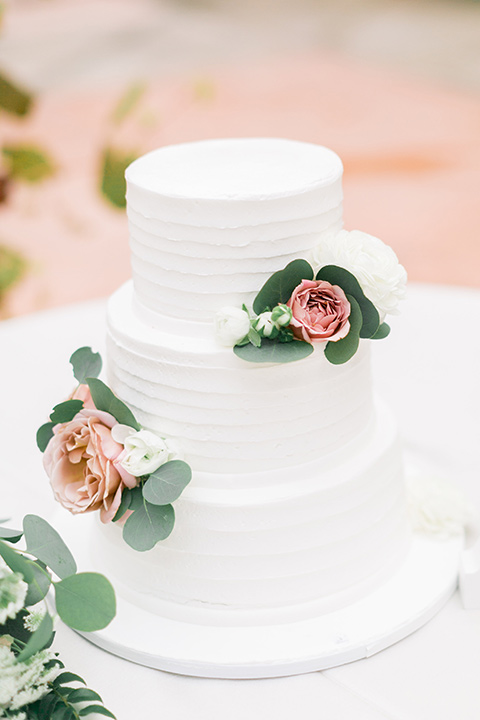 franciscan-gardens-wedding-cake-white-three-tiers-with-pink-floral-accents