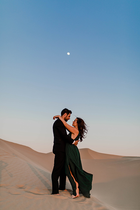 Glamis-Engagement-Shoot-bride-and-groom-face-to-face