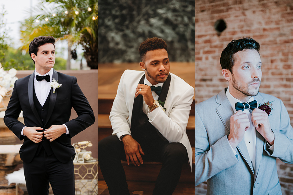 Art deco and great Gatsby inspired clothing for grooms