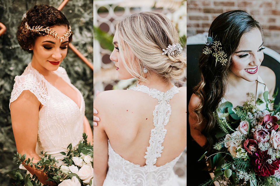 Art deco and great Gatsby inspired hairstyles for brides