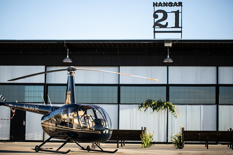 helicopter and venue
