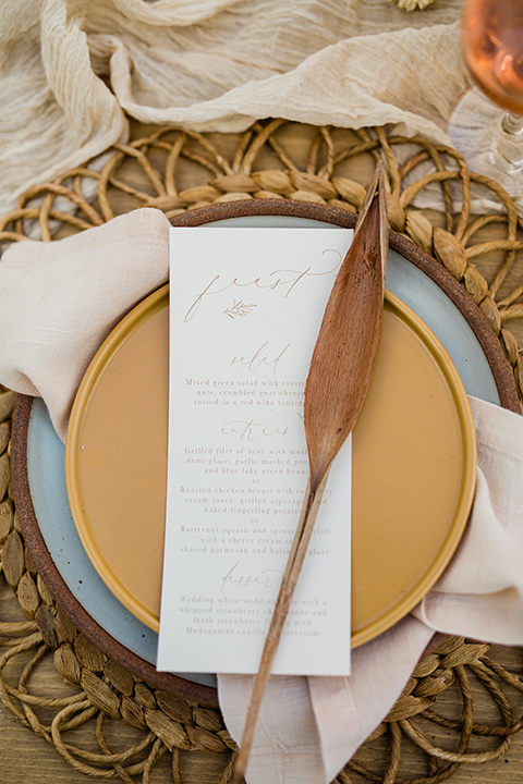 neutral flatware in tans and golds