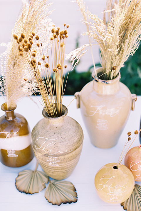 neutral vases in tans and golds