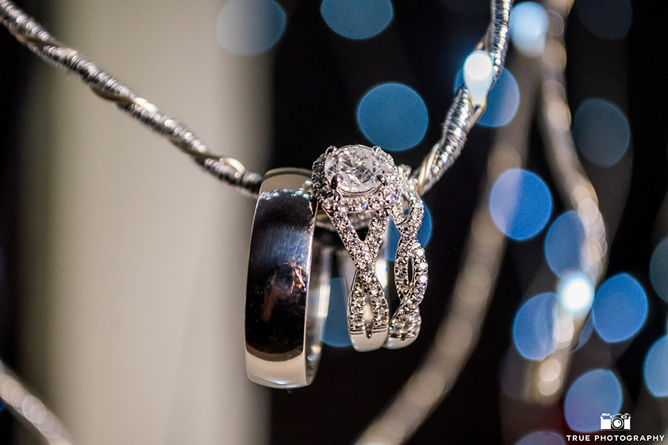 Wedding rings on a chain