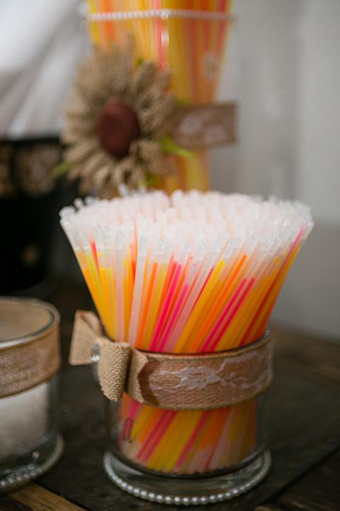 wedding glow sticks in a jar for wedding reception