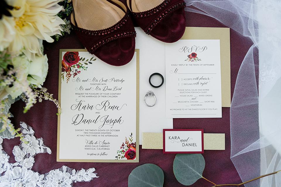 Villa de Amore wedding invitations with white florals