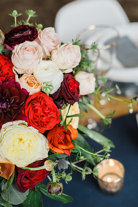 bright florals on table