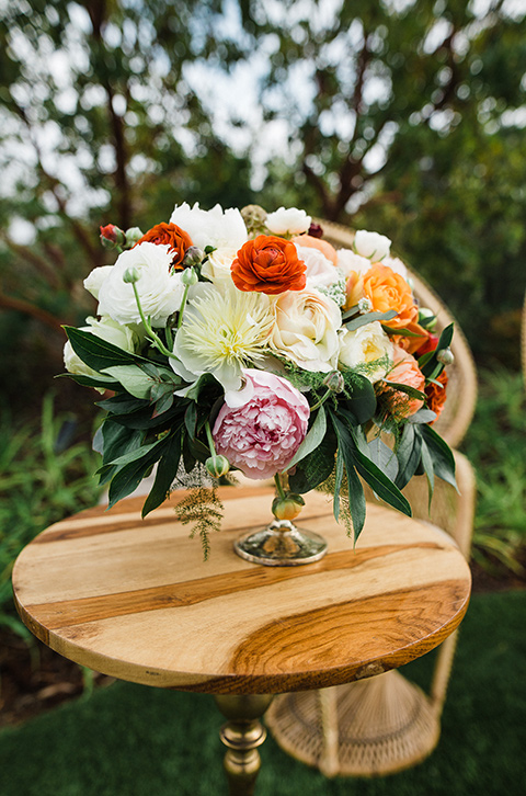 wedding florals at Los Robles venue