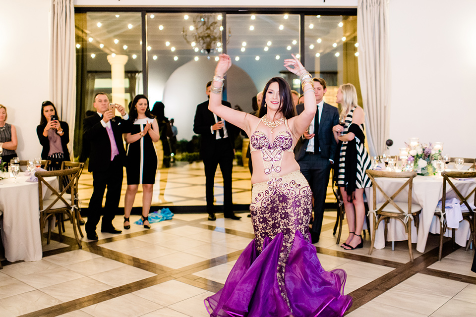 belly dancer at the reception