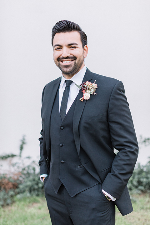 Maxwell-House-Shoot-groom-smilin-in-a-black-suit-with-long-black-tie