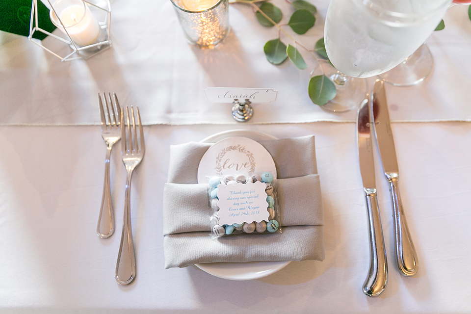 ivory and white everything with silver flatware