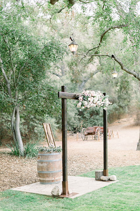 Temecula creek inn wedding ceremony arch