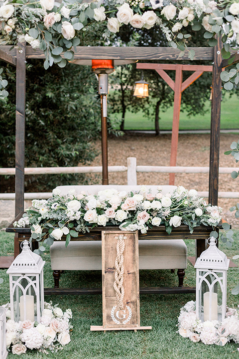 Temecula creek inn wedding sweetheart table