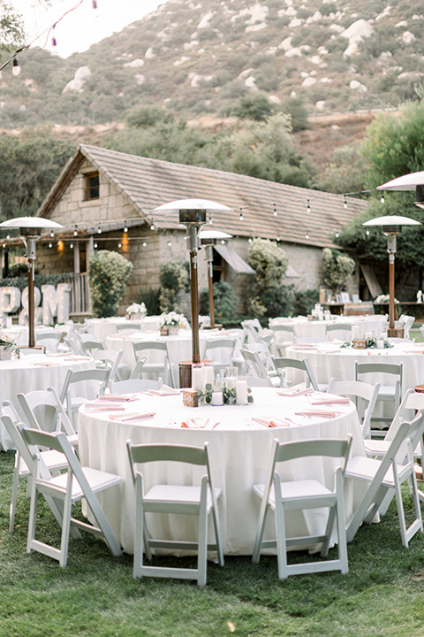 Temecula Creek in Wedding chairs, tables, and placesettings