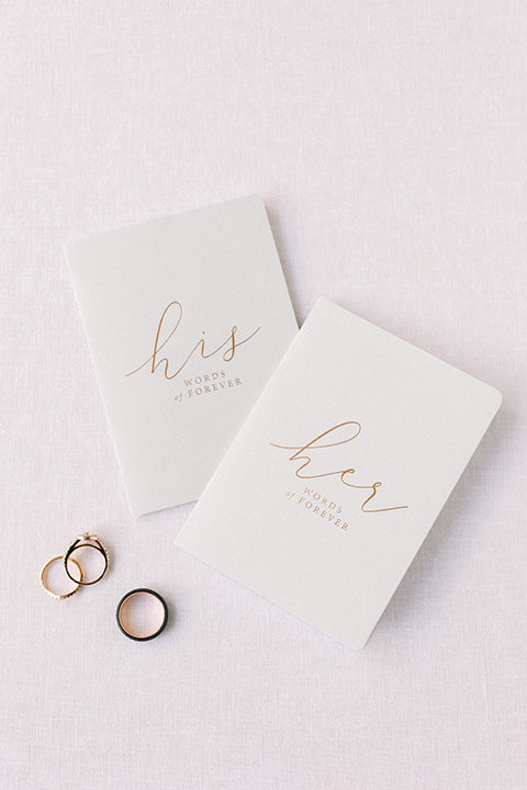 Temecula Creek Inn Wedding vow book and rings