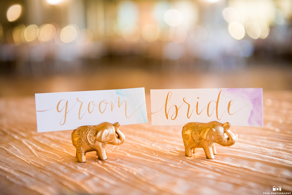 gold elephant title cards