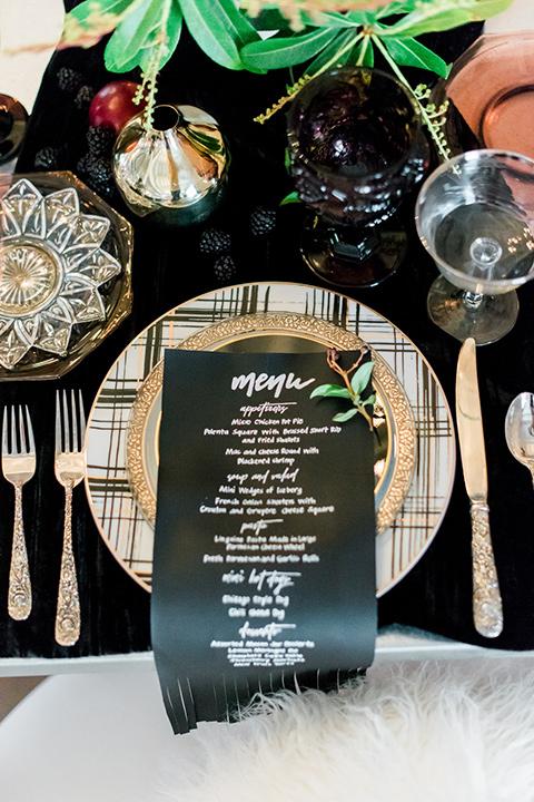 rock-n-roll-wedding-style-menu-card-in-leather-fringed-fabric