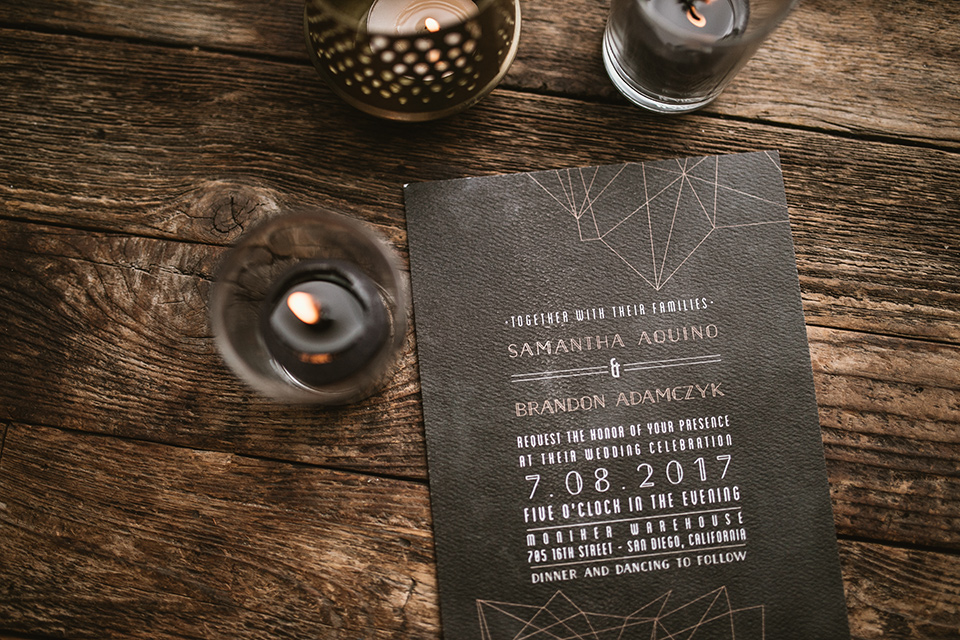 Moniker-Warehouse-Wedding-invitations-in-black-with-white-writing