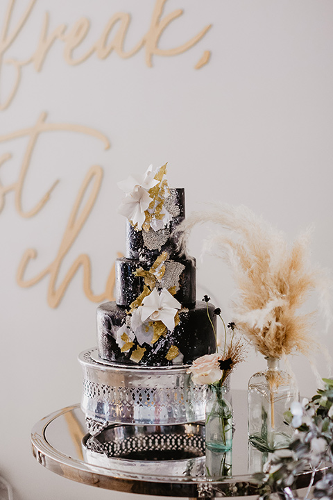 The-Yost-Theatre-cake-with-black-fondant-and-gold-detailing