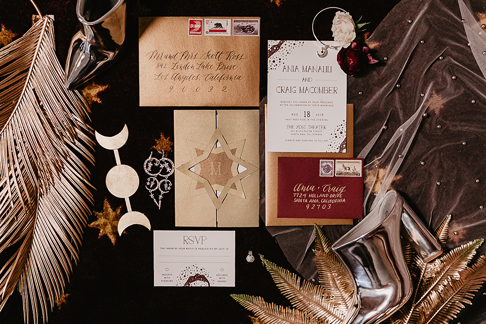 The-Yost-Theatre-invitations-in-gold-with-whtie-and-black-lettering