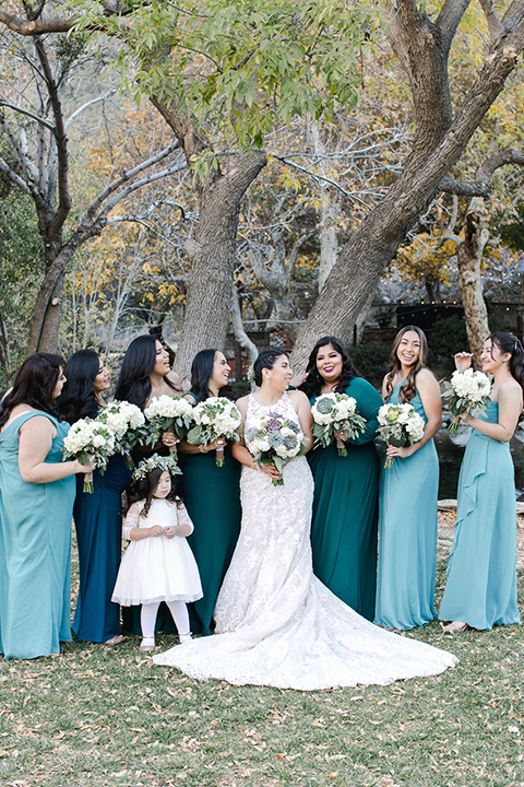 hidden-acres-wedding-bridesmaids-in-blue-dresses