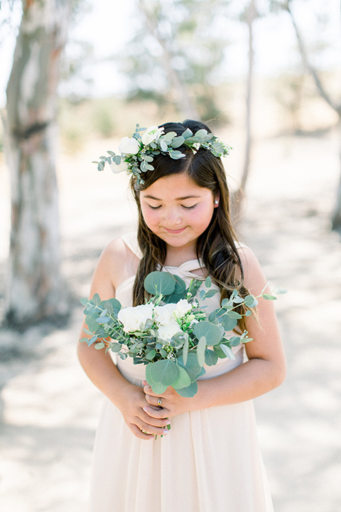 flower girl in a floral crown