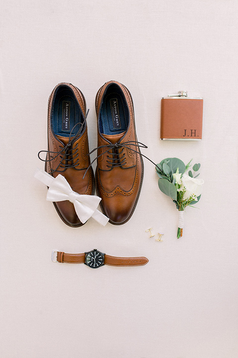 brown shoes and accessories