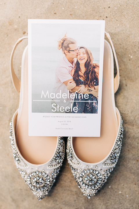 San-Diego-Beach-wedding-shoes-and-invitations