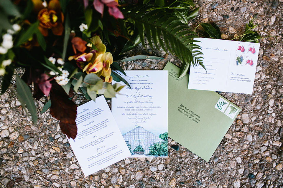 Dos-pueblos-orchid-farm-wedding-invitations-in-mint-green
