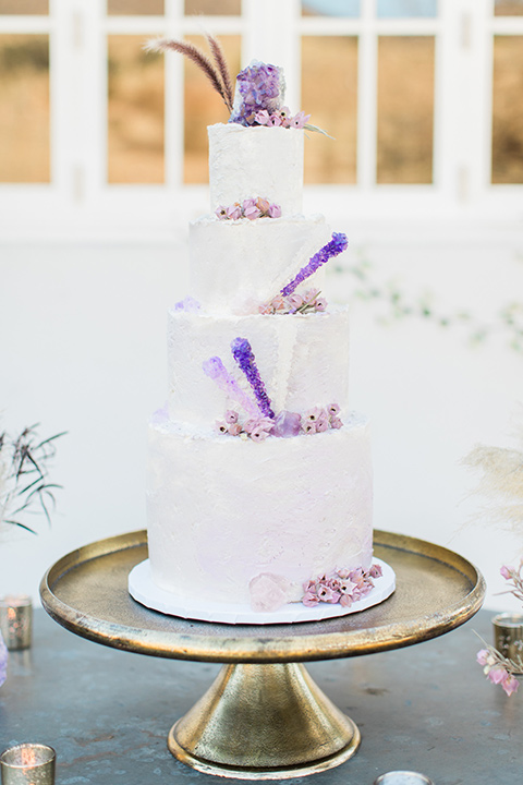triunfo-creek-vineyards-wedding-wedding-cake-with-white-fondant-and-purple-ombre-decor