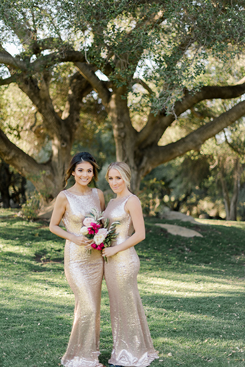 milagro-winery-bridesmaids-bride-in-a-tulle-ball-gown-bridesmaids-in-gold-sequenced-form-fitting-dresses
