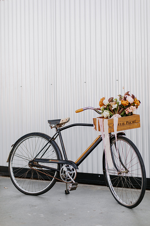 bike with flowers in the basket