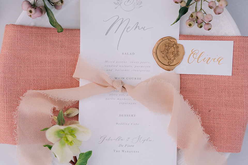 pink and blush invitations