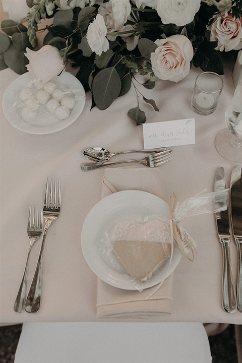 white table linens and silverware