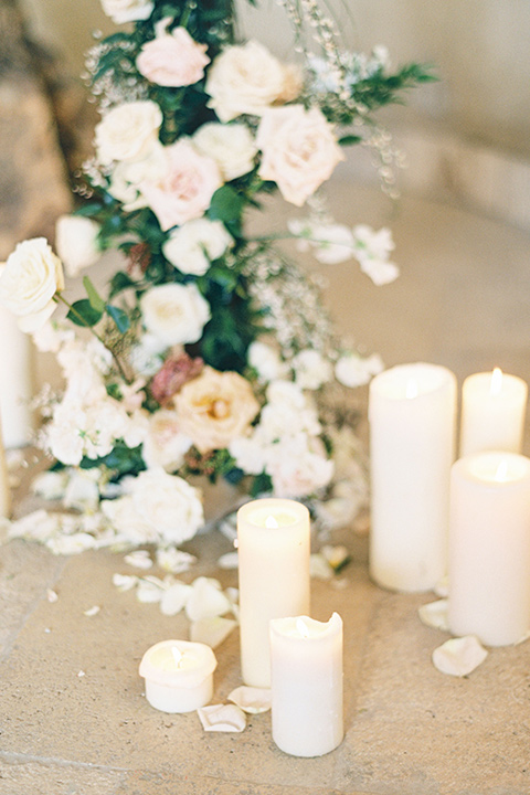 white candles at ceremony