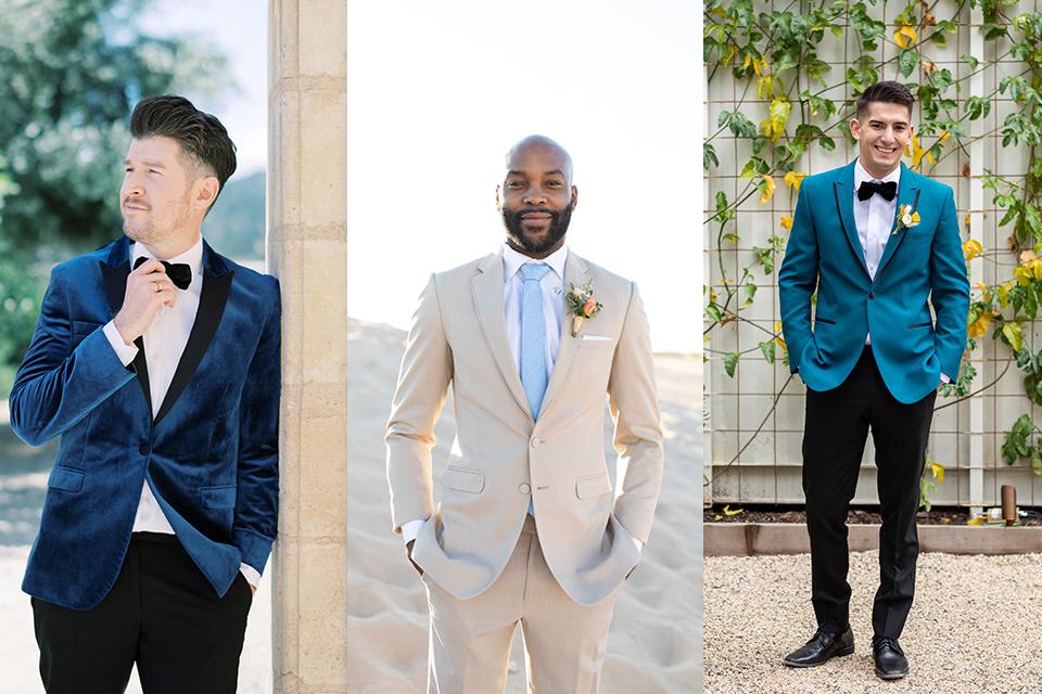 blue-velvet-coat-tan-suit-with-light-blue-tie-teal-blue-suit