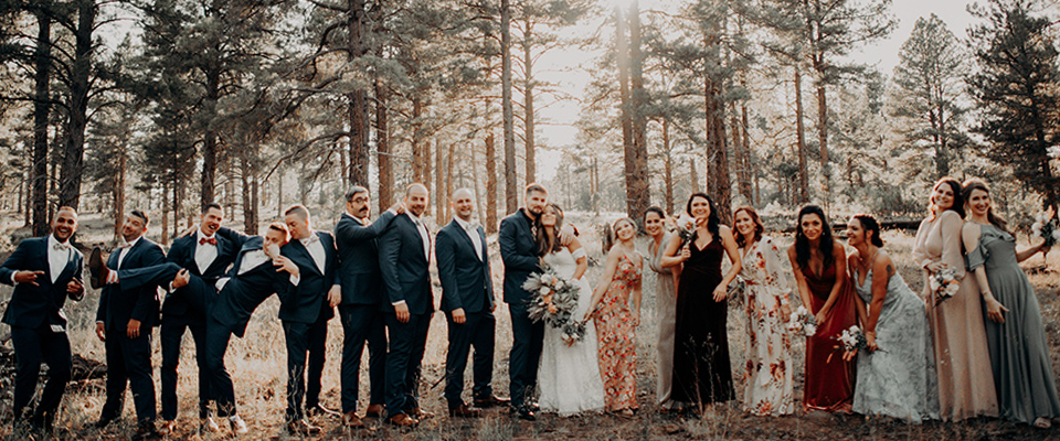 sunny-marigold-yellow-bridesmaids-gowns-and-the-groom-in-a-charcoal-framed-tux-and-groomsmen-in-black-suits